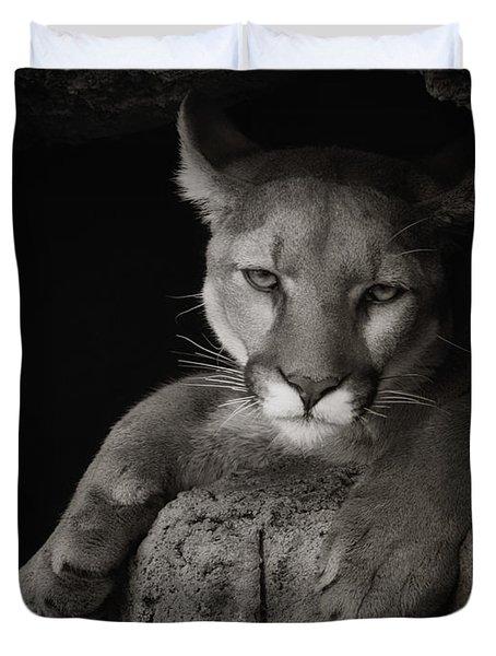 Not A Happy Cat Duvet Cover