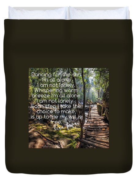 Duvet Cover featuring the photograph Not Alone by Lisa Piper