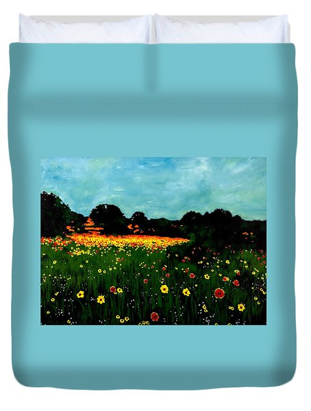 Not Another Bluebonnet Painting Duvet Cover
