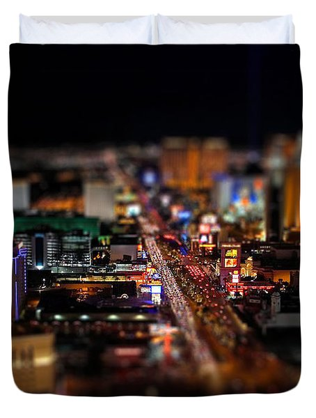 Not Everything Stays In Vegas - Tiltshift Duvet Cover
