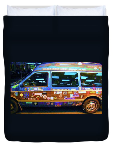 Duvet Cover featuring the photograph Grateful Dead - Not Fade Away by Susan Carella