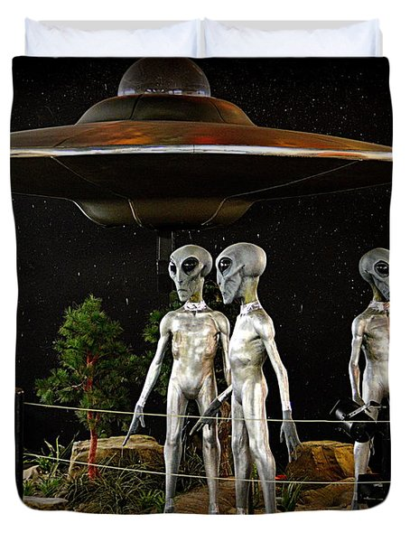Not Of This Earth Duvet Cover