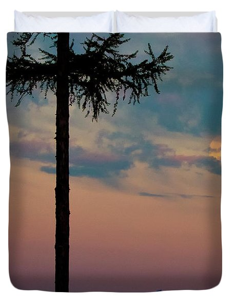 Duvet Cover featuring the photograph Not Quite Clearcut by Albert Seger