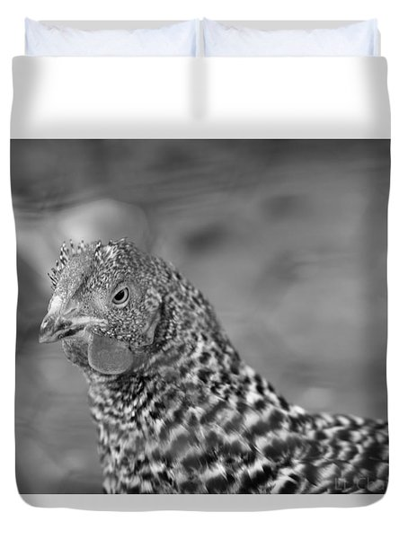 Not Your Chicken Dinner Duvet Cover by Lora Lee Chapman
