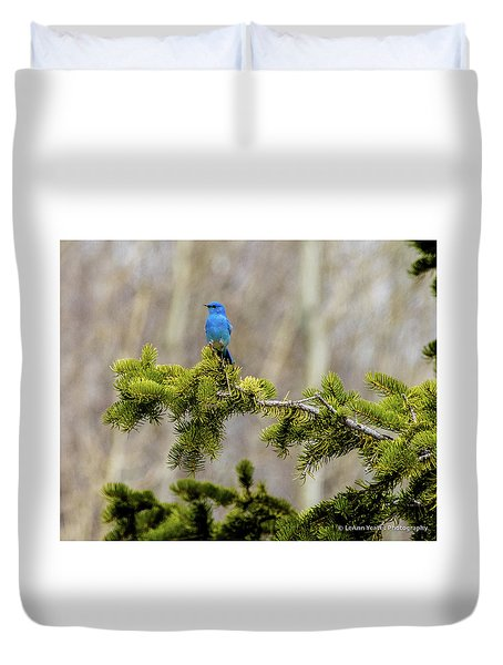 Notice The Pretty Bluebird Duvet Cover by Yeates Photography