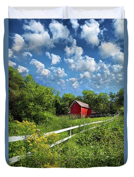 Noticing The Days Hurrying By Duvet Cover by Phil Koch