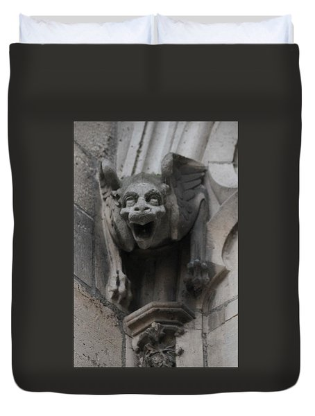 Duvet Cover featuring the photograph Notre Dame 1 by Christopher Kirby