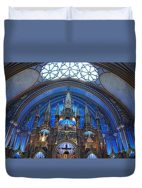 Notre Dame Basilica Duvet Cover by John Schneider