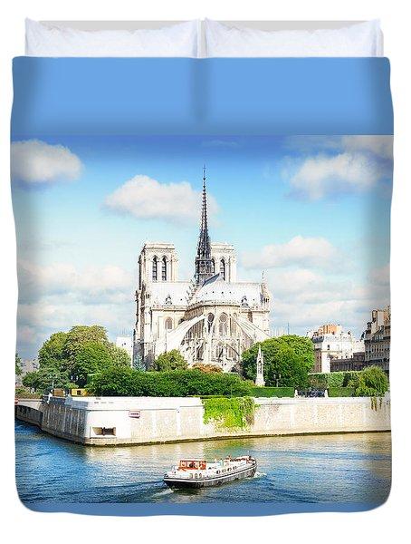 Notre Dame Cathedral, Paris France Duvet Cover
