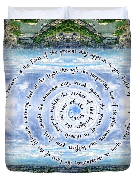 Notre-dame Cathedral Spire Paris Victor Hugo Novel Duvet Cover