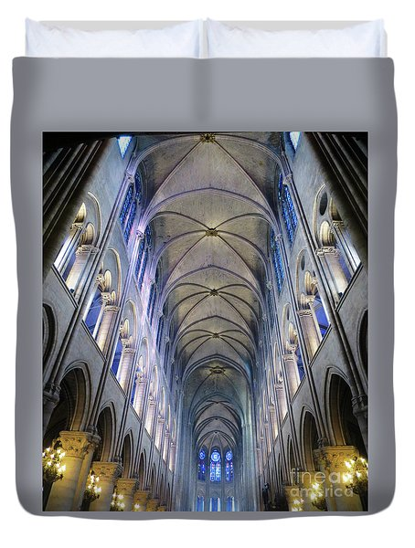 Notre Dame De Paris - A View From The Floor Duvet Cover