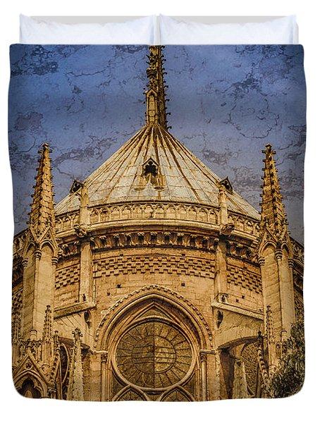Paris, France - Notre-dame De Paris - Apse Duvet Cover
