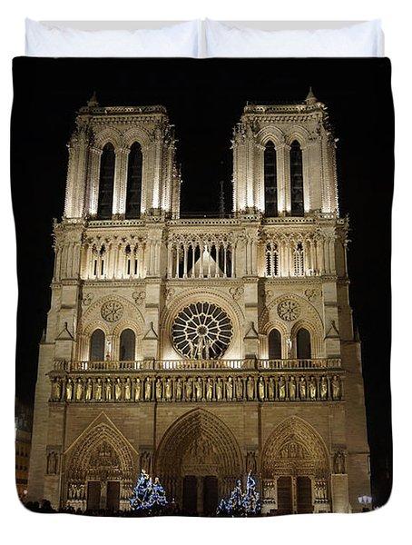 Notre Dame De Paris Duvet Cover by Erik Tanghe