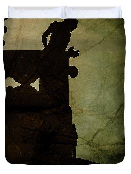 Paris, France - Gargoyle Watch Duvet Cover