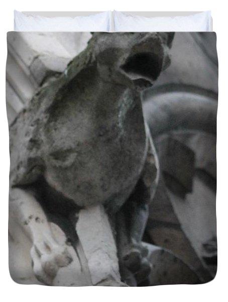 Notre Dame Gargoyle Grotesque Duvet Cover