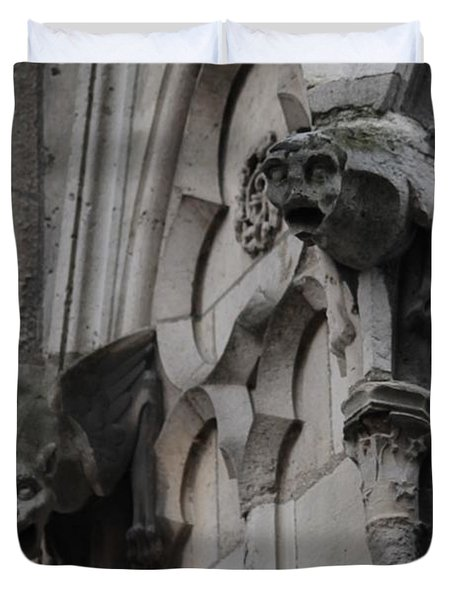 Notre Dame Grotesques Duvet Cover