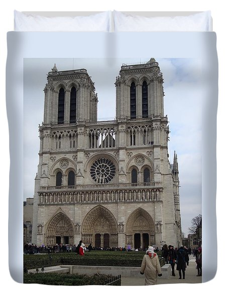 Notre Dame Duvet Cover by Roxy Rich