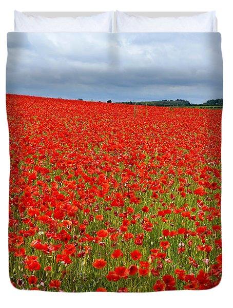 Nottinghamshire Poppy Field Duvet Cover