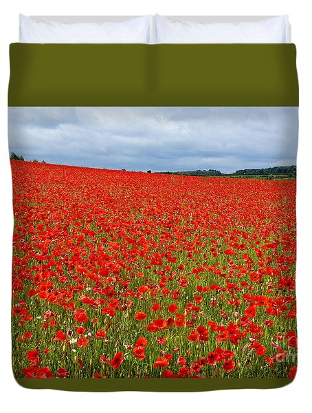 Nottinghamshire Poppy Field Duvet Cover