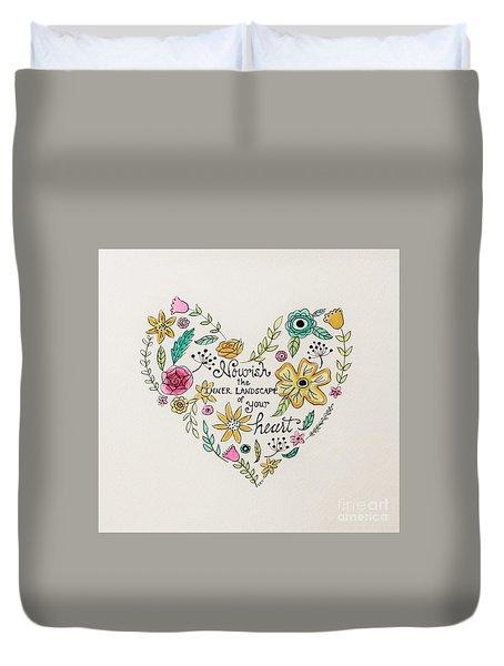Nourish Duvet Cover by Elizabeth Robinette Tyndall