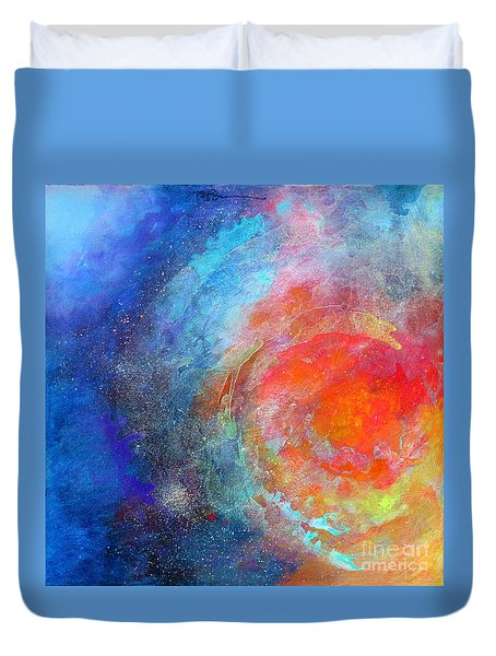 Fantasies In Space Series Painting. Nova Concerto. Acrylic Painting. Duvet Cover