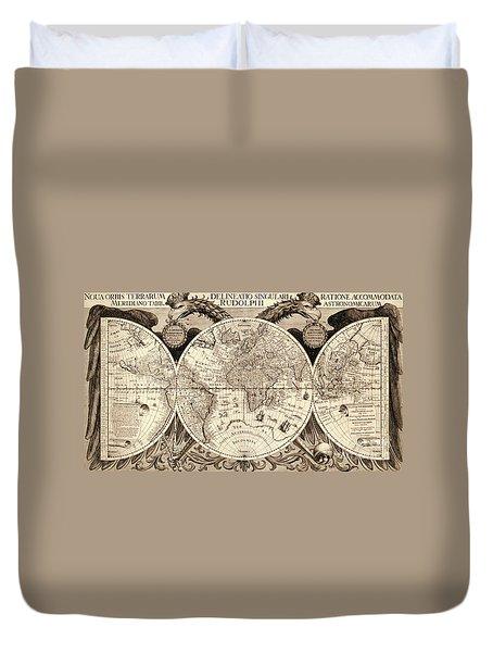 Nova Orbis Terrarum Duvet Cover