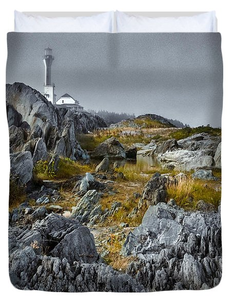 Nova Scotia's Rocky Shore Duvet Cover