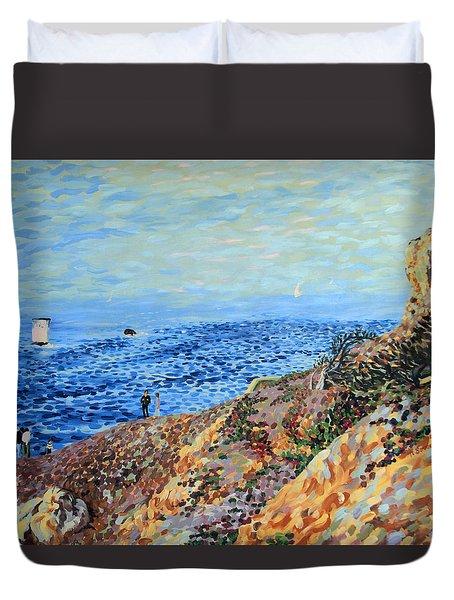 November Day At Point Lobos San Francisco Duvet Cover