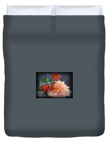 November  Flowers - Still Life Duvet Cover by Dora Sofia Caputo Photographic Art and Design