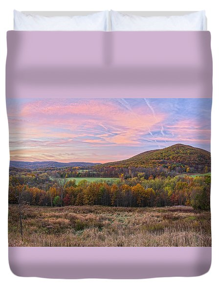 November Glowing Sky Duvet Cover