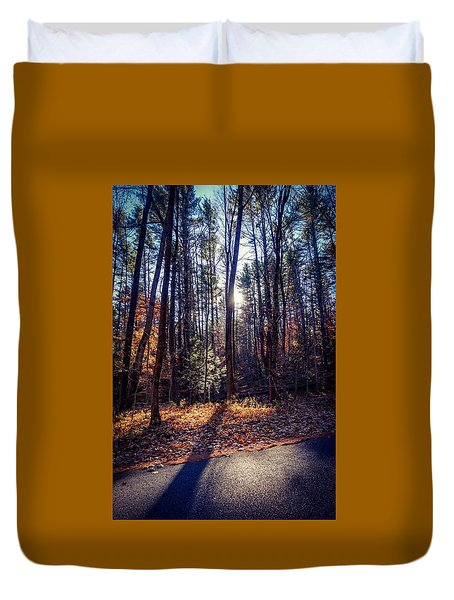 Duvet Cover featuring the photograph November Light by Kendall McKernon