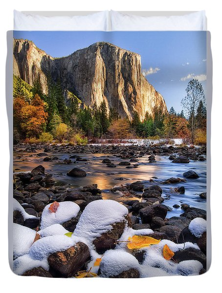 November Morning Duvet Cover by Anthony Michael Bonafede