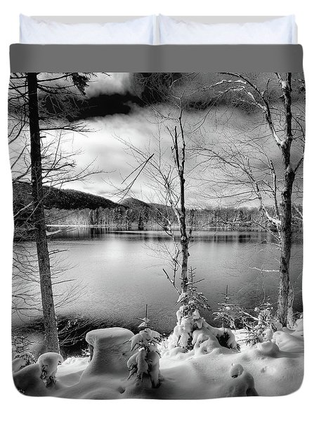 November On West Lake Duvet Cover by David Patterson