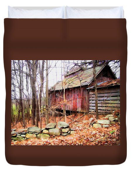 November Stark Duvet Cover by Betsy Zimmerli