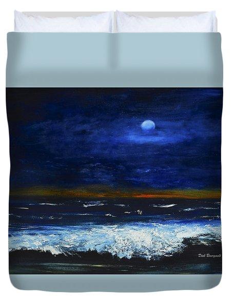 November Sunset At The Beach Duvet Cover