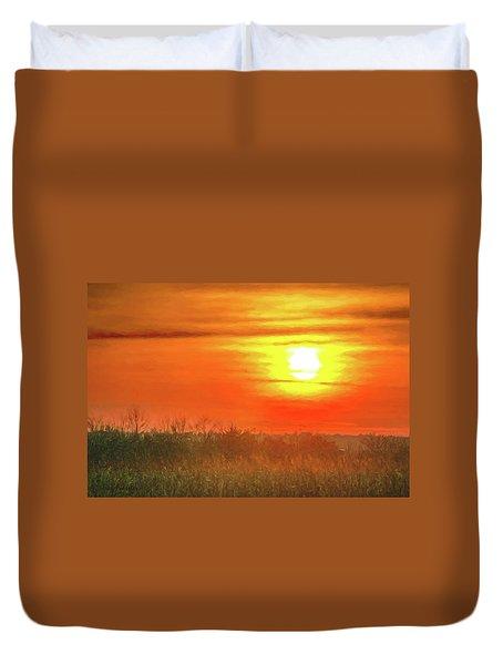 November Sunset Duvet Cover