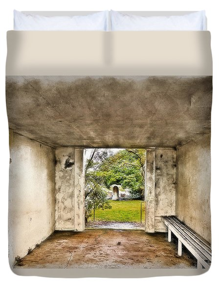Duvet Cover featuring the photograph Now Lets Pray 01 by Kevin Chippindall