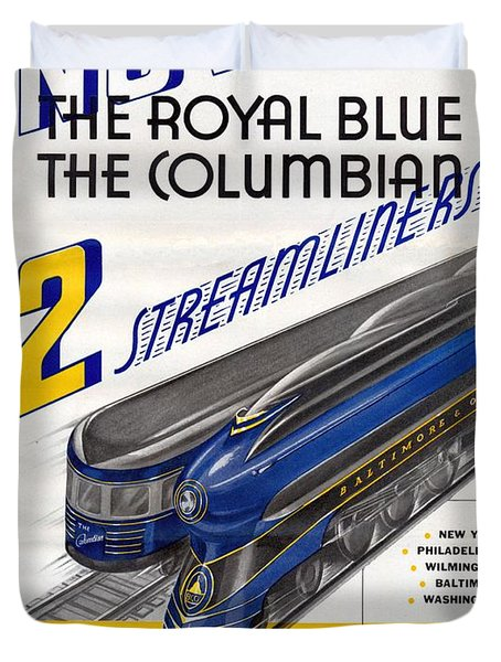 Now The Royal Blue The Columbian Duvet Cover