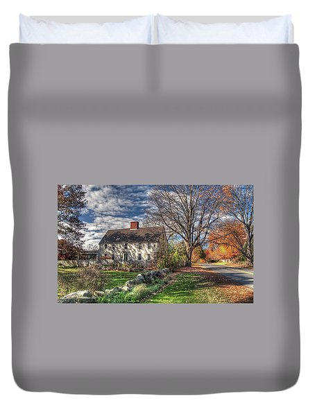Duvet Cover featuring the photograph Noyes House In Autumn by Wayne Marshall Chase