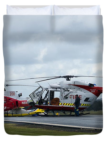 Duvet Cover featuring the photograph Nsw Rfs 01 by Kevin Chippindall