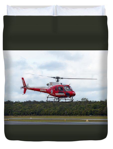 Duvet Cover featuring the photograph Nsw Rfs 02 by Kevin Chippindall