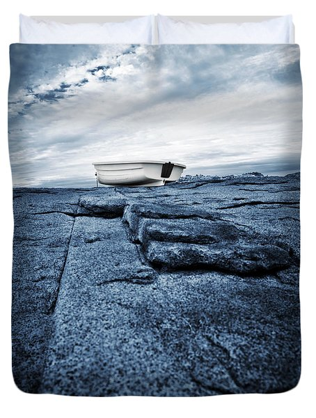 Nubble Light Rowboat Duvet Cover