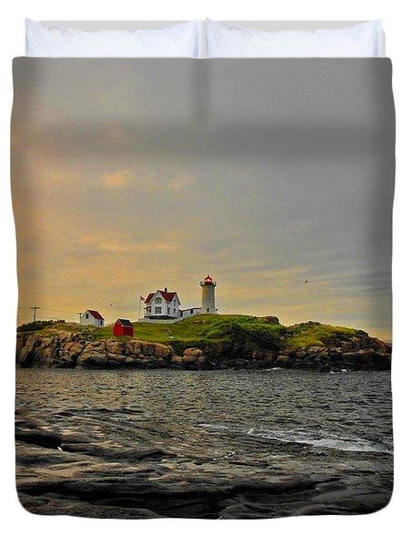 Nubble Lighthouse Duvet Cover