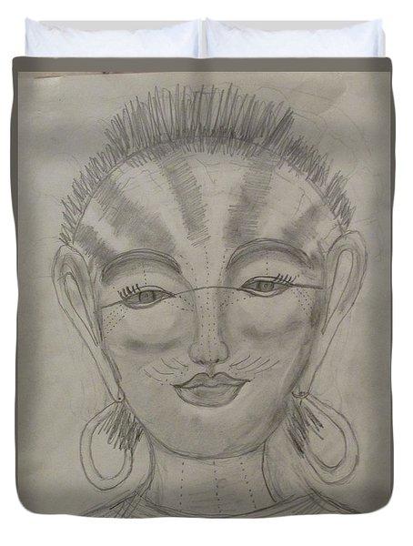 Nubian Goddess Of The Pharaohs Duvet Cover by Sharyn Winters
