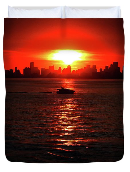 Nuclear Miami Sunset Duvet Cover