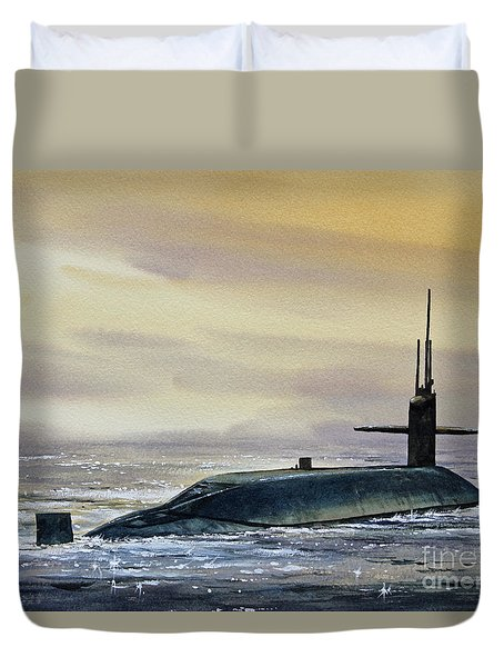 Nuclear Submarine Duvet Cover by James Williamson