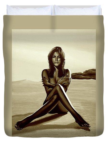 Nude Beach Beauty Sepia Duvet Cover