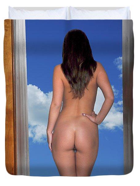 Nude Doorway Duvet Cover