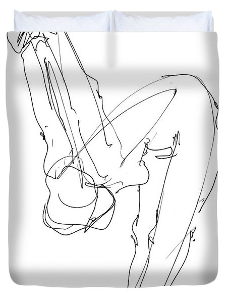 Nude Female Drawings 10 Duvet Cover