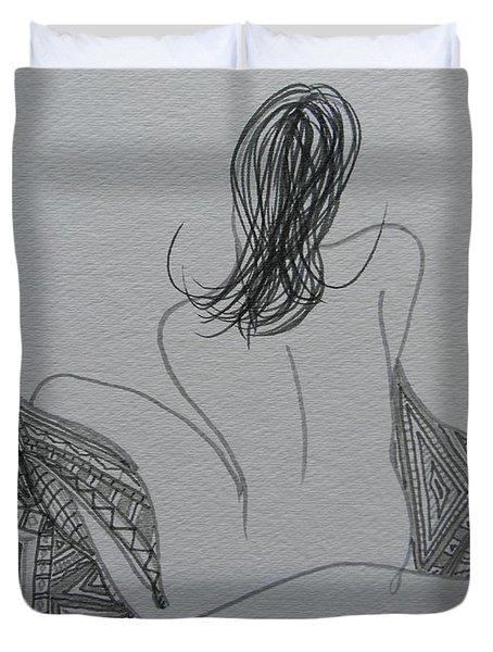 Nude II Duvet Cover